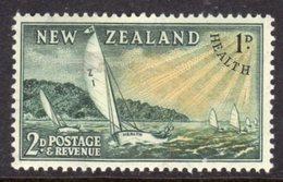 NEW ZEALAND - 1951 HEALTH YACHT SHIP 2d + 1d STAMP FINE MINT MM * SG709 - New Zealand