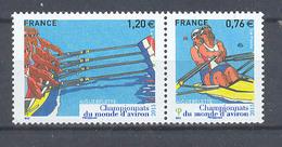 Año 2015  Nº4973/4 Campeonato Del Mundo De Remo - France