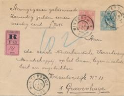 Nederland - 1901 - 12,5 Cent Bontkraag, Envelop G9b + 5 Cent Met Aangegeven Waarde En Roze R-strook Van GR Winterswijk - Ganzsachen