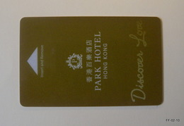 HONG KONG Year 2009: Park Hotel, Hong Kong - Hotel Room Card-Key. - Oude Documenten