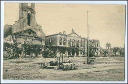 Y2810/ Longwy Lothringen Lorraine Frankreich France Kirche 1.Weltkrieg AK 1914 - Guerre 1914-18