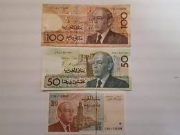 Lot De 3  Billets Marocains - Maroc