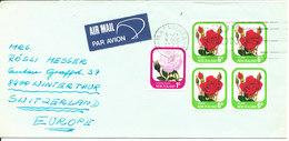 New Zealand Cover Sent Air Mail To Switzerland Matamata 8-12-1975 - Poste Aérienne