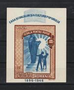 1947 -  L EDUCATION POPULAIRE  MI No Bl 37  MNH - 1918-1948 Ferdinand, Carol II. & Mihai I.
