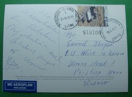 2015 Kosovo Airmail Postcard Sent From Prizren To Pristina, Dokufest, Stamp: ARCHEOLOGY. S (2) - Kosovo