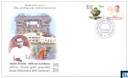 Sri Lanka Stamps 2018, Asoka Weeraratna, Buddha, Buddhism, Special Commemorative Cover - Sri Lanka (Ceylon) (1948-...)