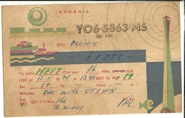 "2496 "" YO6-5863/MS-TO RADIO I17TT "" CART.ORIG.SPED. - Radio Amatoriale"