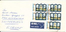New Zealand Cover Sent Air Mail To Switzerland Matamata 28-2-1975 - Poste Aérienne