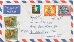 New Zealand Air Mail Cover Sent To Switzerland Matamata 21-5-1975 - Poste Aérienne