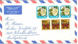New Zealand Air Mail Cover Sent To Switzerland Matamata 4-2-1976 - Poste Aérienne