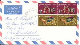 New Zealand Air Mail Cover Sent To Switzerland Matamata 3-4-1976 - Airmail