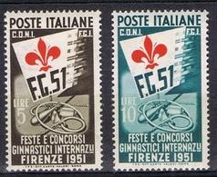 DO 7389  ITALIË  SCHARNIER  YVERT NUMMERS 599/600  ZIE SCAN - 6. 1946-.. Repubblica