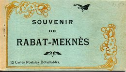 Maroc. Carnet De 12 Cartes. Souvenir De Rabat-meknes - Rabat