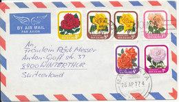 New Zealand Air Mail Cover Sent To Switzerland Matamata 26-4-1977 - Airmail