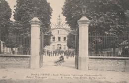 BAR SUR SEINE - L'ECOLE PRIMAIRE SUPERIEURE PROFESSIONNELLE - ENTREE PRINCIPALE -  BELLE CARTE ANIMEE -  TOP !!! - Bar-sur-Seine