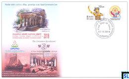 Sri Lanka Stamps 2018, International Buddhist Tourism Summit, Buddha, Buddhism, Special Commemorative Cover - Sri Lanka (Ceylon) (1948-...)