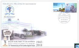 Sri Lanka Stamps 2018, Signal Corps, Military, War, Special Commemorative Cover - Sri Lanka (Ceylon) (1948-...)