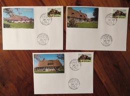 Cachets PONT AUDEMER - Portraits De Régions - Lot De 3 Enveloppes / Souvenirs Philatéliques - 2004 - Normandie - France
