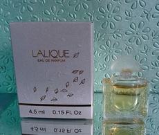 """Miniature De Parfum """"LALIQUE  """" De LALIQUE Eau De Parfum 4,5 Ml Avec Sa Boîte - Miniatures Modernes (à Partir De 1961)"""