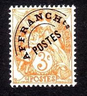 PREOBLITERES TYPE BLANC 3C.ORANGE N° 39 NEUF** - 1893-1947