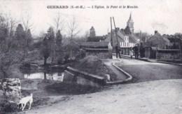 77 - Seine Et Marne -  GUERARD - L Eglise - Le Pont Et Le Moulin - France