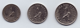 PARAGUAY - COMPLETE SET 3 COINS 5c 10c 20c LOW MINTAGE - AU/UNC- 1903 - Paraguay