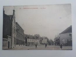 1912 CP Monceau-sur-Sambre N° 33 La Place  Edit F. Delrot-Crepin - Charleroi