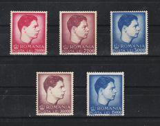 1947 -  ROI  MICHEL  Mi No 1028/1032  MNH - 1918-1948 Ferdinand, Carol II. & Mihai I.