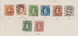 SUISSE 1882-1925 :  'Helvetia Debout', Petit Lot D' Oblitérés - 1882-1906 Wappen, Stehende Helvetia & UPU