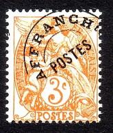 PREOBLITERES TYPE BLANC 3C.ORANGE N° 39 - 1893-1947
