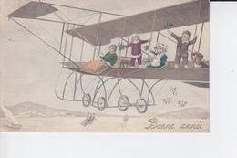 Des Enfants Se Trouvant Sur L'aiaéroplane - Nieuwjaar