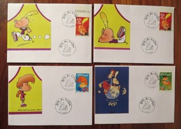 TITEUF - ZEP - Fête Du Timbre Cachets L'AIGLE Orne 61 Lot De 4 Enveloppes / Souvenirs Philatéliques - 2005 - Brieven En Documenten