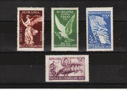 1947 -  Commemoration De La Paix Mi No 1024/1027   MNH - 1918-1948 Ferdinand, Carol II. & Mihai I.