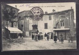 CPA 30 - NOTRE-DAME DE LA ROUVIERE - La Place - TB PLAN CNETRE VILLAGE Avec TB ANIMATION + Café Auberge à Droite - Notre-Dame-de-la-Rouvière