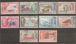 CAYMAN ISLANDS 1950 SET TO 1s SG 135/144 FINE USED Cat £13+ - Cayman Islands