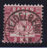 Baden, N°24, Oblitéré HEIDELBERG, Cote 5€ ( W1911/006) - Bade