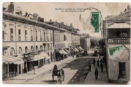 Alais (Alès) : Rue De L'Hôtel De Ville Et Avenue De La Gare (Editeur Papeterie Nouvelle) - Alès