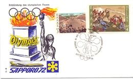 HELLAS  SAPPORO 72 OPYMPIA 1971 COVER    (GEN190282) - FDC