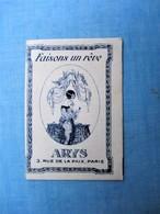 Peu Courante Carte Parfumée - Faisons Un Reve - ARYS 3, Rue De La Paix PARIS  - TBE - Vintage (until 1960)