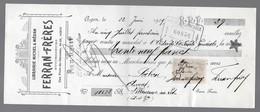 LOT ET GARONNE - VILLENEUVE SUR LOT - AGEN - LIBRAIRIE MICHEL & MEDAN - TIMBRE FISCAL 5 C - 1909 - Francia
