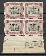 Bezetting Eupen 65 C, Nr 96 In Blok 4 Met DEPOT 1921 En Perfin CC - Belgique