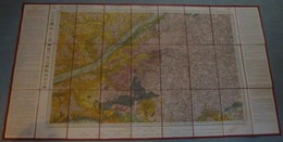 Carte E.M. Géologique Entoilée : BLOIS - 1/80 000ème - 1845/1904. - Cartes