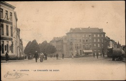 Leuven :  La Chaussée De Diest - Rechts >>> Stoomtram !! - Leuven