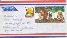 New Zealand Air Mail Cover Sent To Switzerland Matamata 27-9-1977 - Airmail