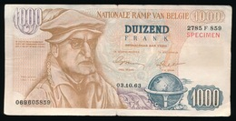 FAKE BILJET VAN 1000 FRANK - NATIONALE RAMP VAN BELGIE    _ 2 SCANS - 1000 Francs