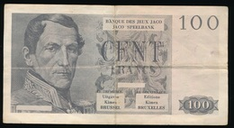 FAKE BILJET VAN 100 FRANK - BANQUE DES JEUX JACO    _ 2 SCANS - [ 2] 1831-... : Regno Del Belgio