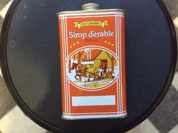 BIDON MÉTAL SIROP D'ERABLE Pur Canadien  MAPLE SYRUP Canadian Pure - Scatole