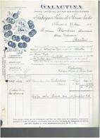 FACTURE 1908 GALACTINA FABRIQUE SUISSE DE FARINE LACTEE A BERNE SUISSE - Suisse