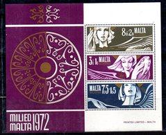 MALTA 1972  ,  Il Foglietto BF N. 2 ***  MNH - Malta
