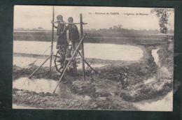 CPA (Asie) Viet-Nam - Environs De Hanoï  -  Irrigation De Rizières - Enfants Sur Un Système De Pompage - Vietnam